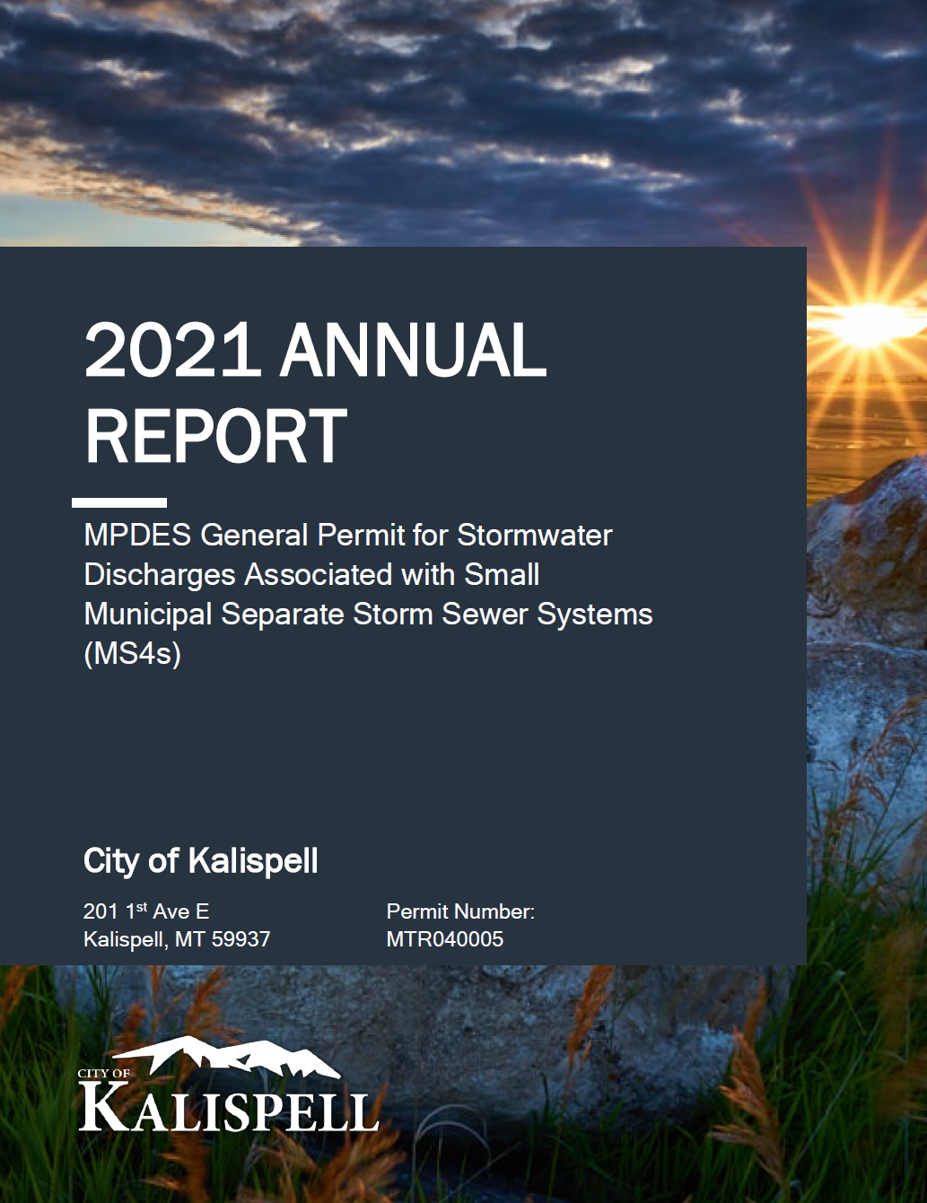 Stormwater Annual Report Cover