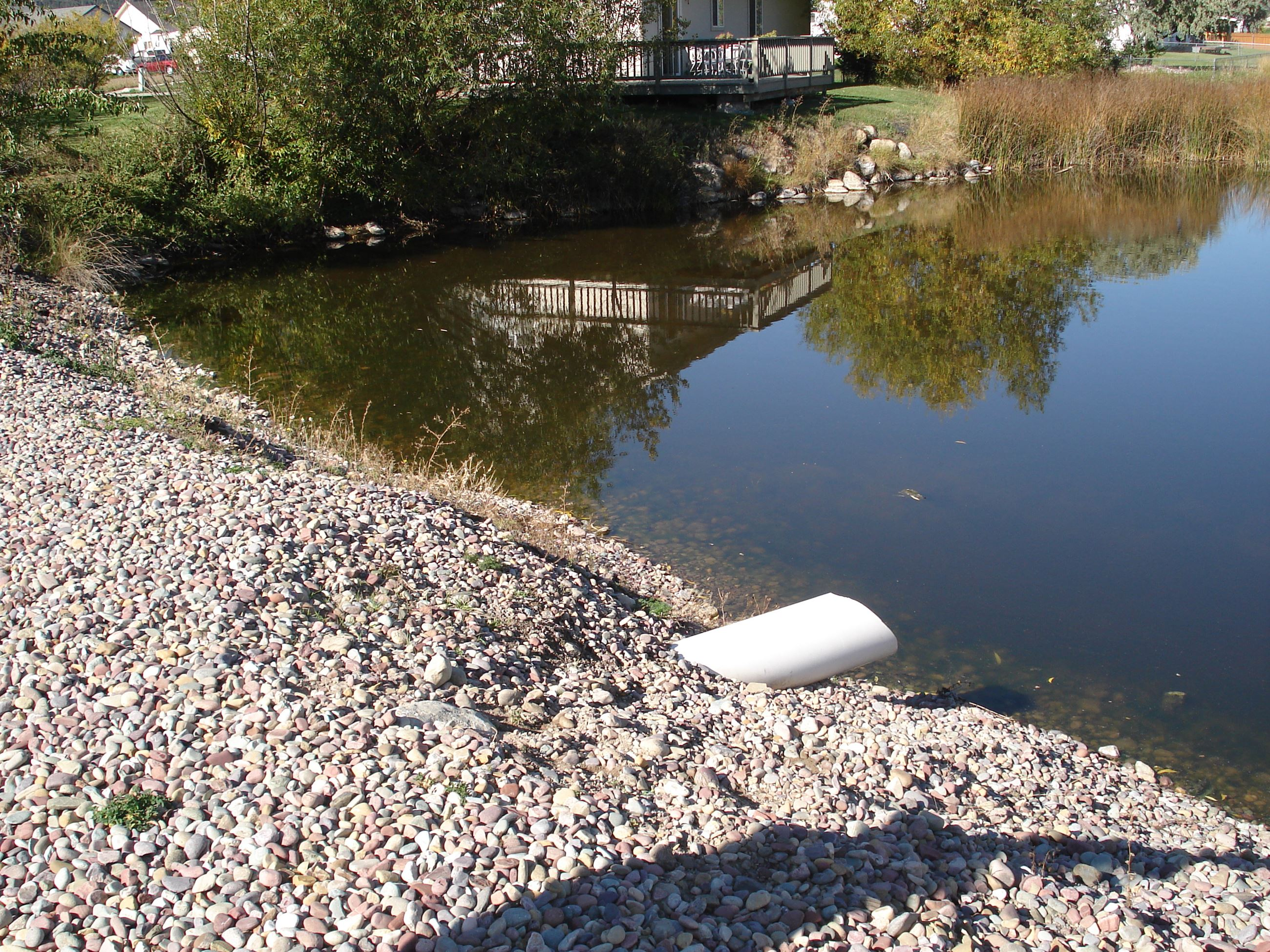 Stormwater outfall pipe into water body
