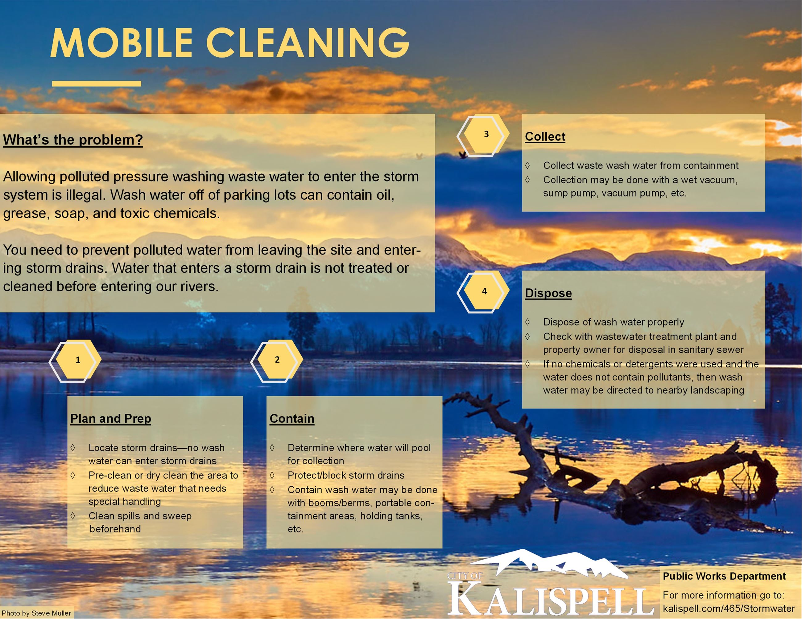 Mobile Cleaning Information Flyer